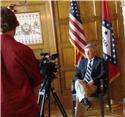 Rose Bud EAST Students Interview Governor Beebe